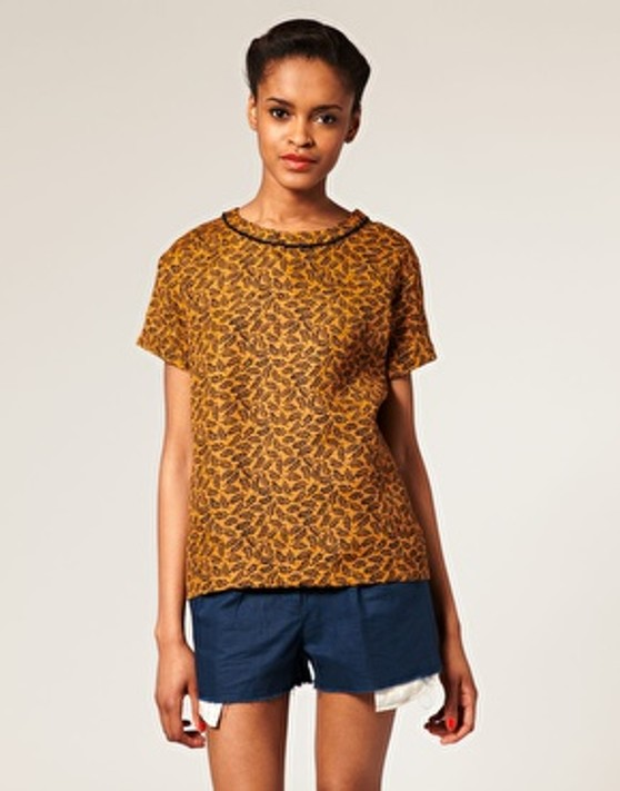 Image 1 of ASOS AFRICA Printed Boxy T-Shirt