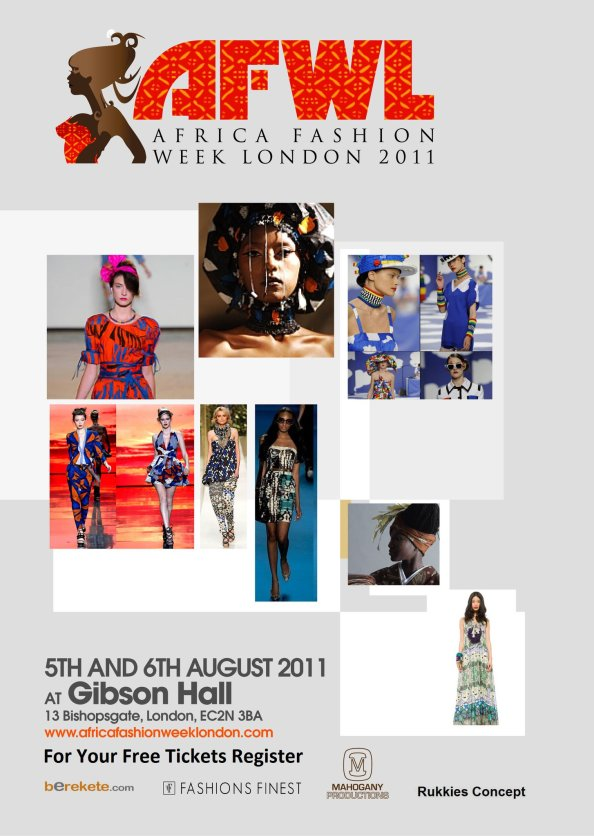 AfricaFashionWeekLDN flyer