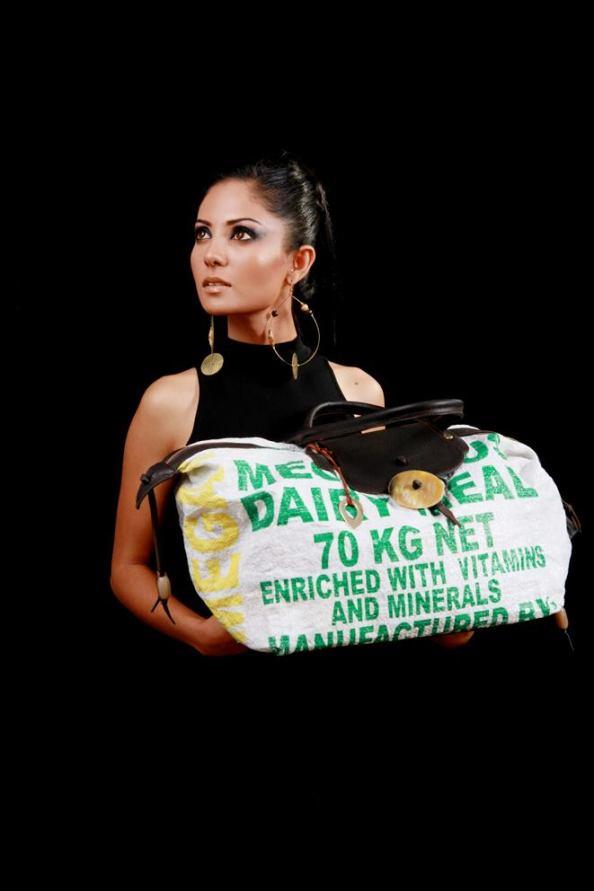 Recycled bag collection - image courtesy Adèle Dejak